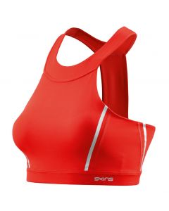 Skins DNAmic Speed Womens Sports Bra (coral red)