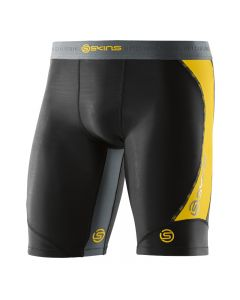 Skins DNAmic Men's Half Tights (black/citron)