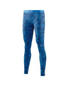 Skins DNAmic Women's Long Tights (graphic sunfeather blue)