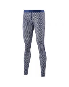 Skins DNAmic Women's Long Tights (textured square navy/white)