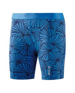Skins DNAmic Womens Shorts (graphic sunfeather blue)