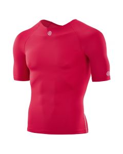 Skins DNAmic TEAM Men's Short Sleeve Top With Round Neck (red)