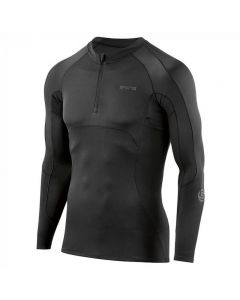 Skins DNAmic Ultimate Mens L/S Top 1/2 Zip (black)