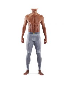Skins Mens 5-Series Long Tights (grey geo)