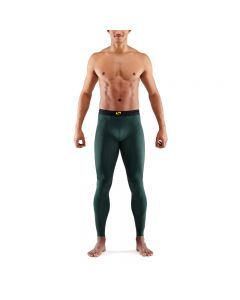 Skins Mens 5-Series Long Tights (forest green)