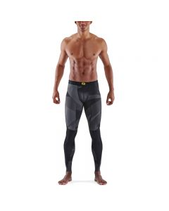 Skins Mens 5-Series Long Tights (black geo)