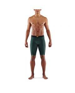 Skins Mens 5-Series Half Tights (forest green)