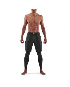Skins Mens 5-Series Superpose Long Tights (black)