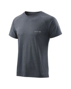 Skins Activewear Bergmar Mens Top S/S Round Neck (navy blue marle)
