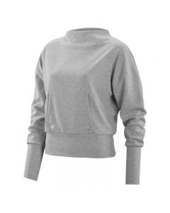 Skins Activewear W Wireless Sport Fleece Crew Neck (silver/marle)