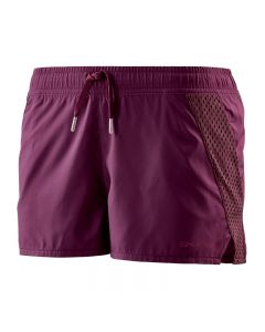 Skins Activewear Women's Cone Run Short (merlot)