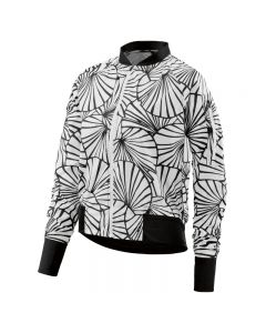 Skins Activewear Trylen Womens Bomber Jacket Graphic Sunfeather (black/white)