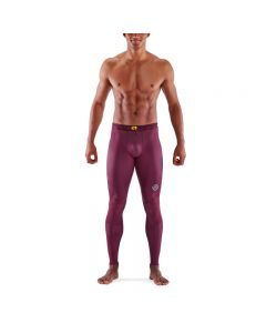 Skins Mens 3-Series Long Tights (burgundy)