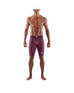 Skins Mens 3-Series Half Tights (burgundy)