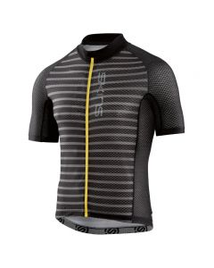 Skins Cycle Men's Love Cats X-Light Short Sleeve Jersey (pewter stripe/black)