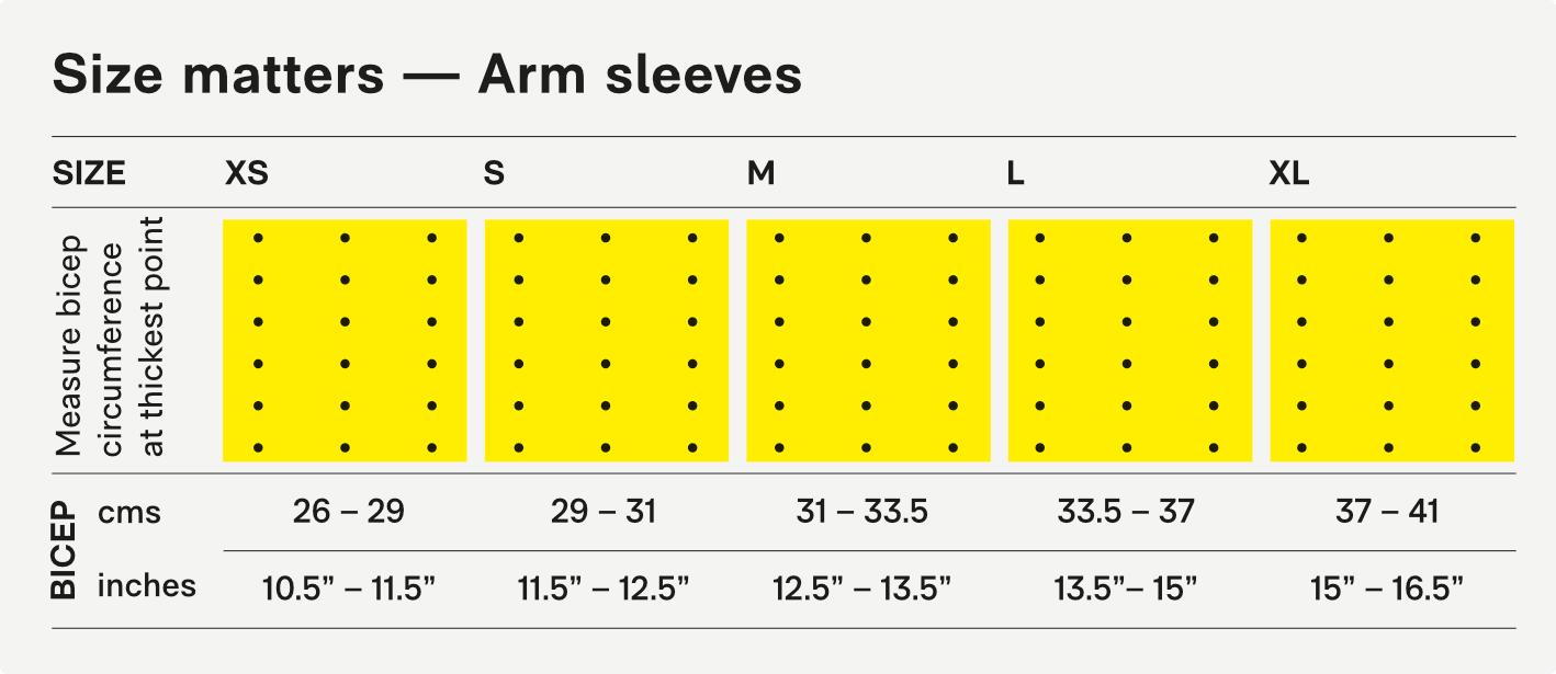 Größentabelle/Size Chart
